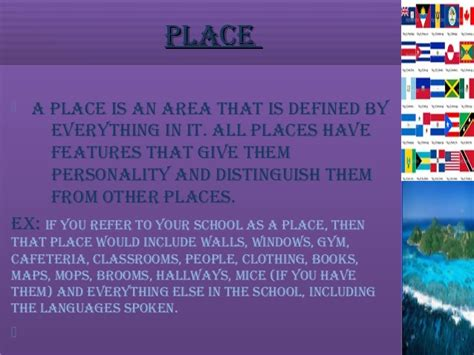 A Place Explanation The 5 Themes Of Geography