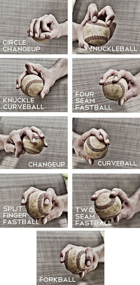 Garden Art Ideas - how to hold a baseball for different pitches pictures photos and images for facebook