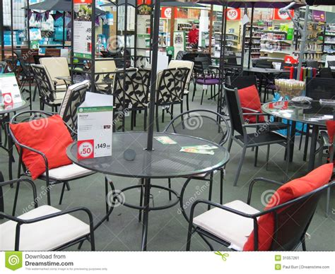 garden furniture   large store editorial photo image