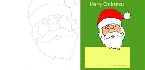 santa claus  printable card  kids mocomi