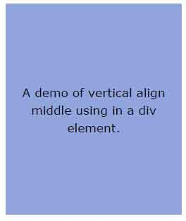 css div align css vertical align text and images in div 3 demos
