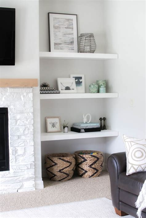 floating shelves for fireplace best 25 alcove decor ideas on apartment
