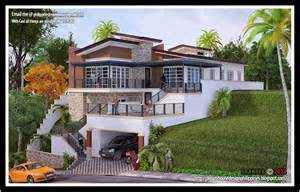 Size Of A Three Car Garage Philippine Dream House Design A House In A Sloping Land