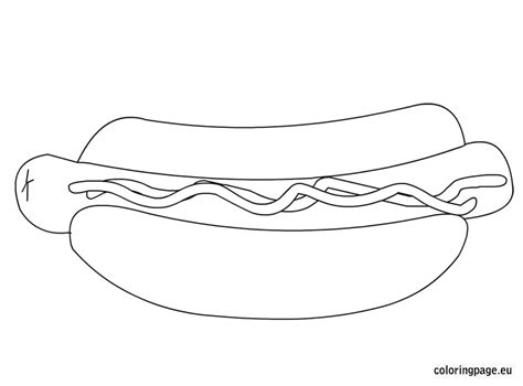 free coloring pages of hot dogs printable hot dog coloring pages marstopeka hot dog