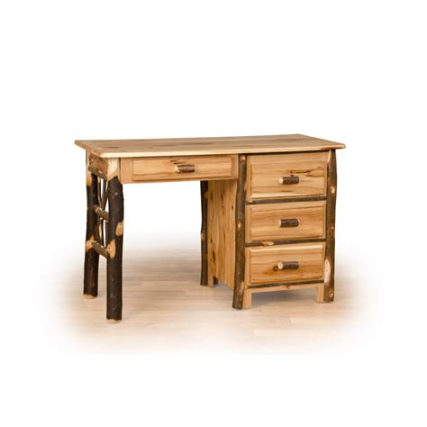 Students Desk by Rustic Hickory Log Oak Student Desk Furniture Barn Usa