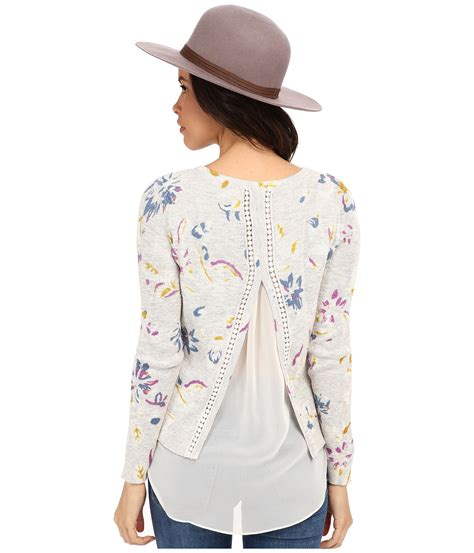 lucky brandon lyst lucky brand floral printed pullover
