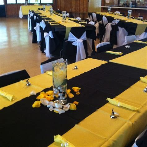 Yellow black white wedding   Ideas   Wedding colors