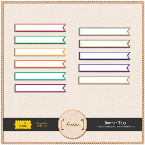 printable banner labels cute banner tags for scrapbooking tortagialla