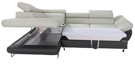 Fabio Sectional Sofa Sleeper with Storage   Creative Furniture