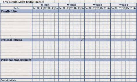 Galerry printable blank budget chart