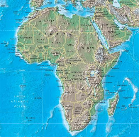 africa map geographical features africa s physical features learning team 1