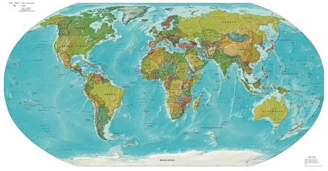 world map image large large detailed political and relief map of the world
