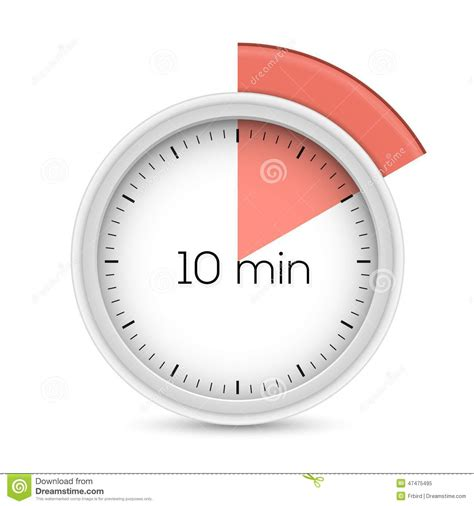 timer 10 mintues ten minutes timer stock vector image 47475495