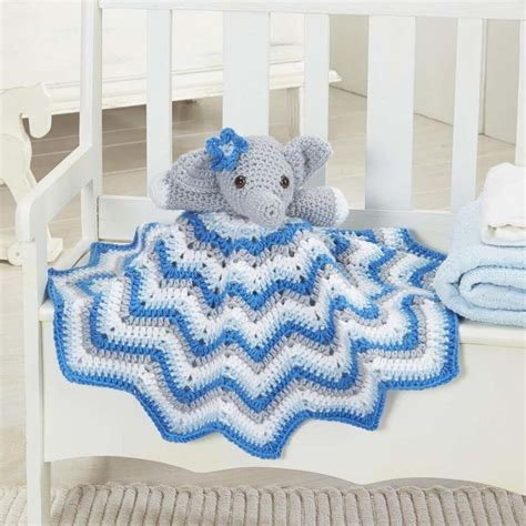 Elephant Cuddle Rug by Craft Passions Stella Lovey Blanket Free Crochet