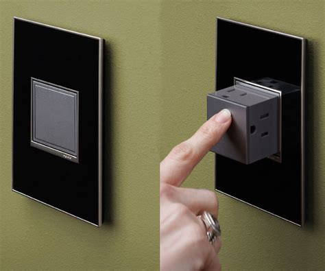 hide the electrical outlets when not in use by installing