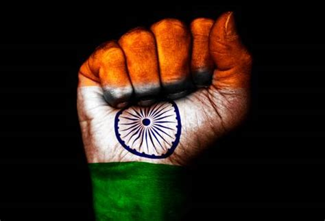 indian flag unity  hand indian independence
