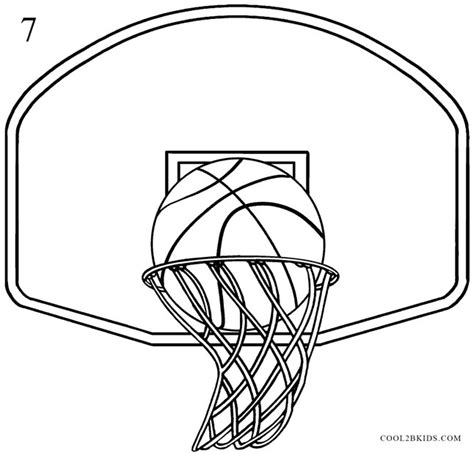 basketball net coloring pages how to draw a basketball hoop step by step pictures