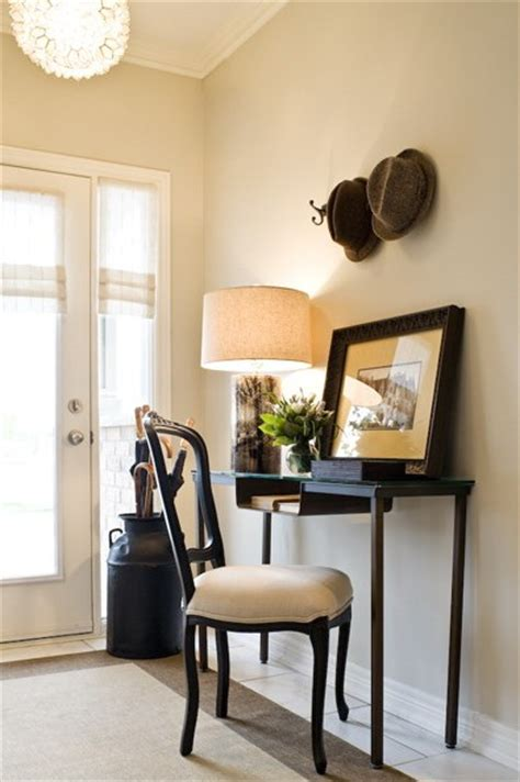 Desk In Entryway styled built ins cottage entrance foyer sabal homes sc