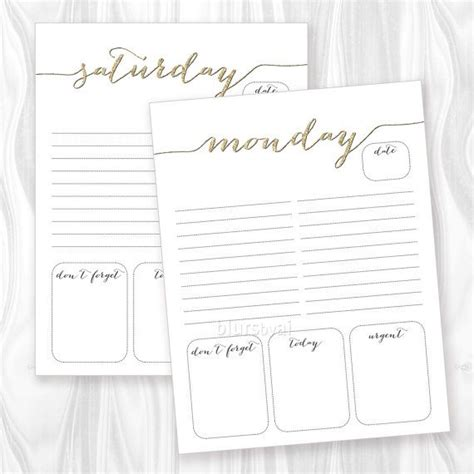 Girly Daily Planner Printable | printable to do list daily to do printable weekly