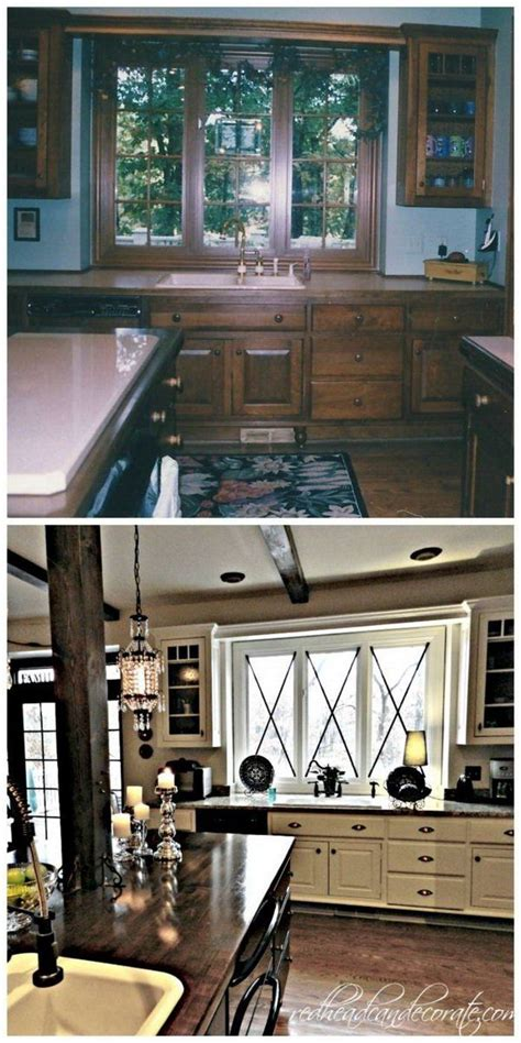 before and after 25 budget friendly kitchen makeover 25 b 228 sta absolutely stunning id 233 erna p 229 pinterest