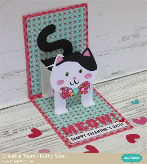 how to make a pop up cat card pop up card with kathy 187 lori whitlock