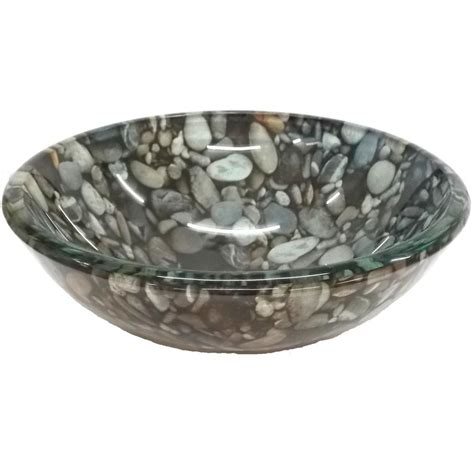 Vessel Glass Sink by Bath Small Pebble Pattern Glass Vessel Sink