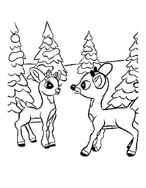 coloring pages deer rudolph free printable reindeer coloring pages for kids