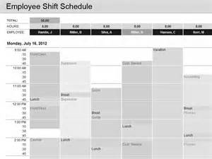 Microsoft Employee Schedule Template by Employee Shift Schedule Template For Excel For
