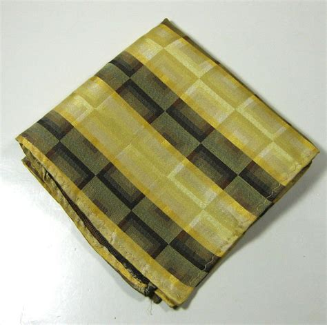 gold pattern pocket square rich gold brown squares yellow silk pocket square