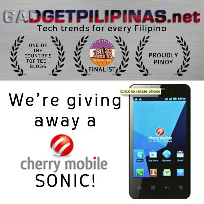 Sonic Giveaway - giveaway cherry mobile sonic gadget pilipinas