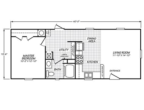 house plan one bedroom mobile home floor palm
