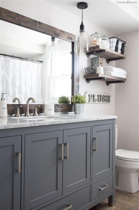 industrial farmhouse bathroom reveal finding diy home