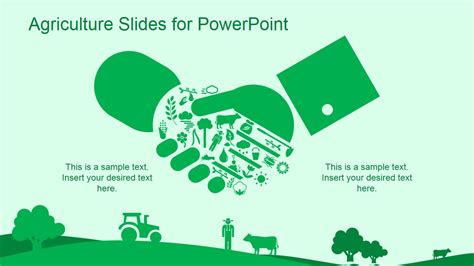 Green Agriculture Template For Powerpoint Slidemodel Agriculture Powerpoint Templates