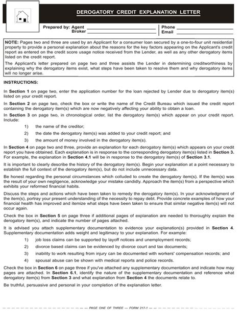Letter Of Explanation For Derogatory Credit Template May 2012 Forms Tuesday Journal