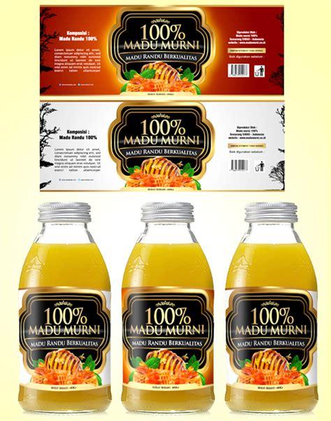 desain label minuman botol sribu desain label desain label untuk botol 100 madu mur