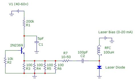 avalanche transistor laser diode driver laser diode driver circuit diagram