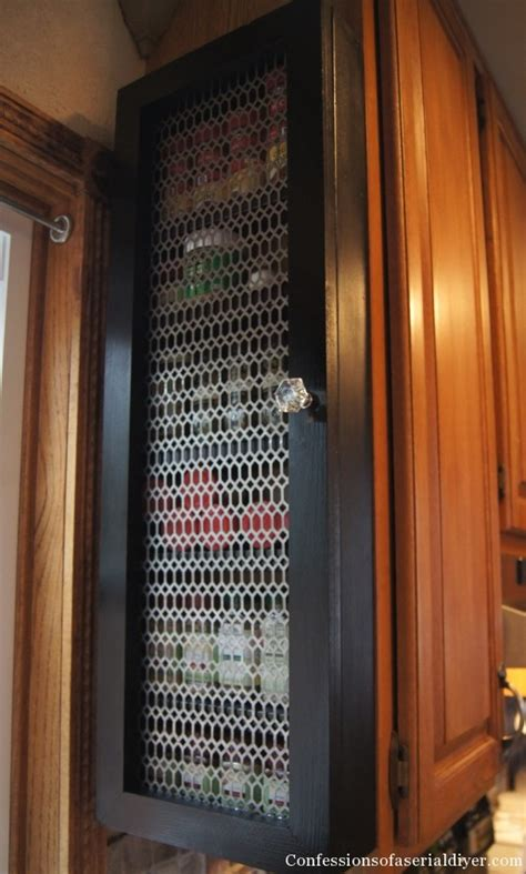 build spice rack cabinet remodelaholic how to build a space saving spice cabinet
