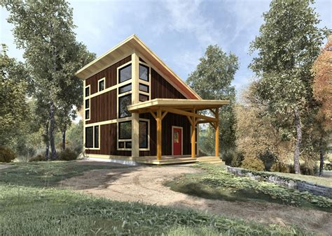 Wood Frame House Plans by Brookside 844 Sq Ft From The Cabin Series Of Timber