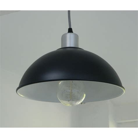 Black Pendant Lights For Kitchen Satin Black Retro Basin Pendant Light