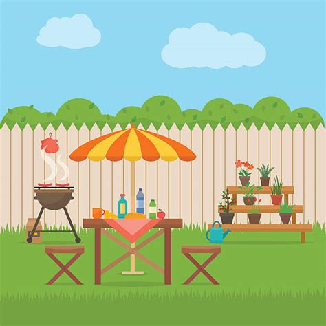backyard clipart royalty free front or back yard clip art vector images