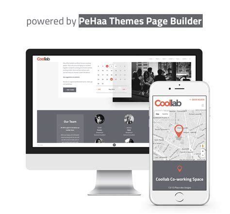 orange themes page builder download tools coollab modern wordpress theme for local