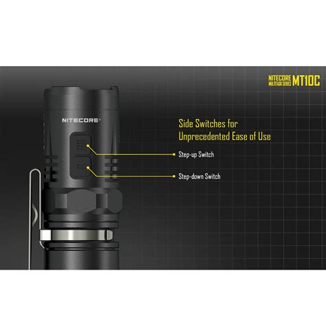 Senter Led Cree nitecore mt10c senter led cree xm l2 u2 920 lumens black
