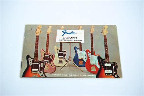 Fender Jaguar Instruction Manual Hang Tag Case Candy Reverb