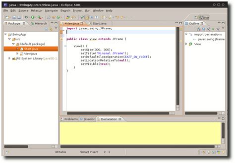 swing eclipse java teil 2 grafische programmierung mit swing