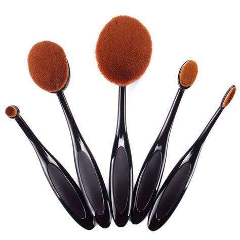Oval Brush Set Isi 10pcs 10 pcs set toothbrush shape oval makeup brush kit foundation power brushes ebay