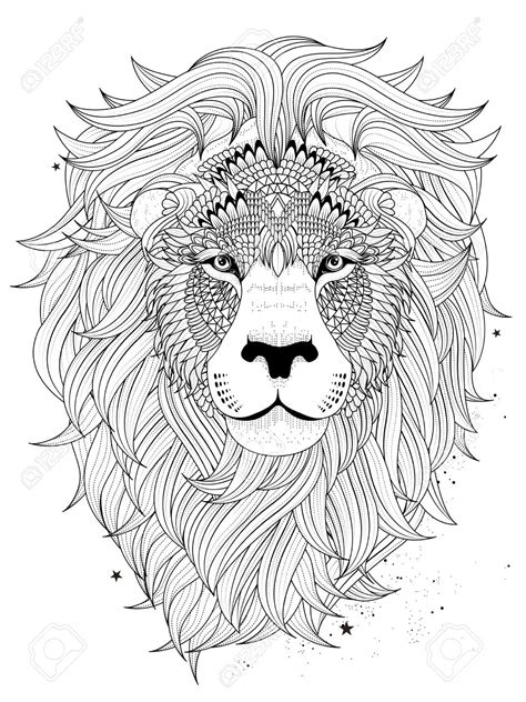 lion zentangle color me zoo pinterest lions adult image result for free lion adult coloring page coloring