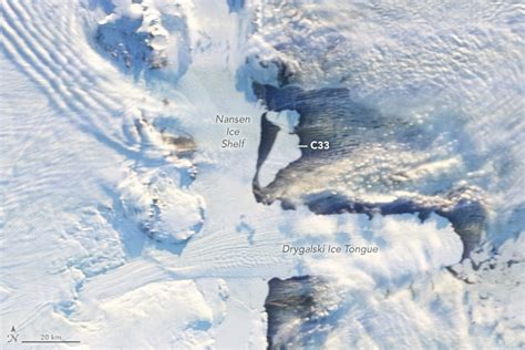 antarctic shelf sheds bergs image of the day