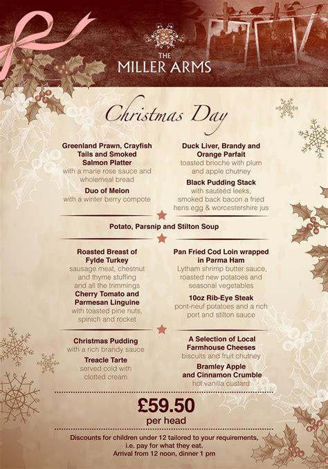 best new christmas menus menu brochures