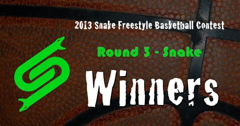 contest results 2013 3 winners of the 2013 snake freestyle basketball