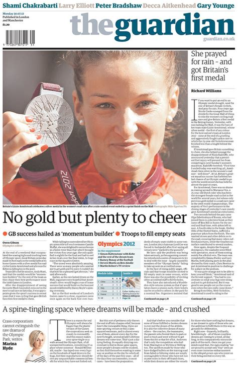 layout of guardian newspaper a look at the guardian s olympics pages so far charles apple